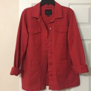 Sanctuary red utility jacket w/front patch pockets